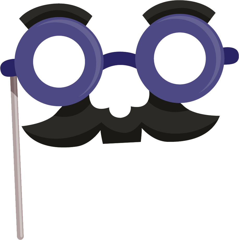 Glasses and Moustache Stick