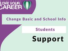 Change Basic and School Info   Students