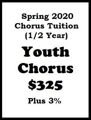 2020 Spring Season Youth Chorus Tuition