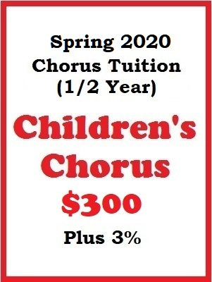 2020 Spring Season Children's Chorus Tuition