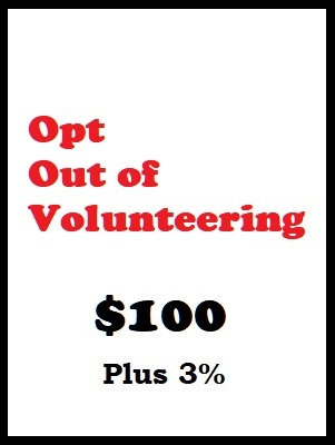 Opt Out of Volunteering