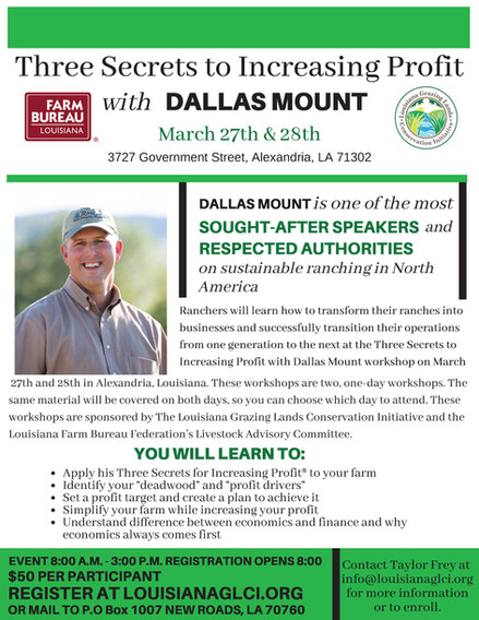 Secrets to Increasing Profit with Dallas Mount