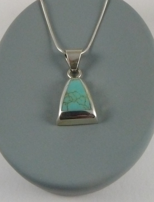 Turquoise pendant set in sterling silver silver ki morgan turquoise pendant set in sterling silver aloadofball Images
