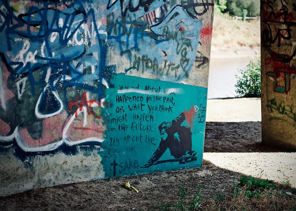 Graffiti as pictographs.