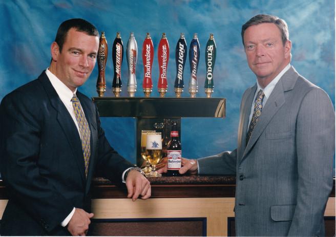 August Busch IV (left) with August Busch III (right)