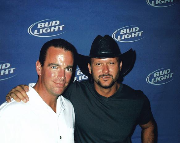 August Busch IV with musician Tim McGraw
