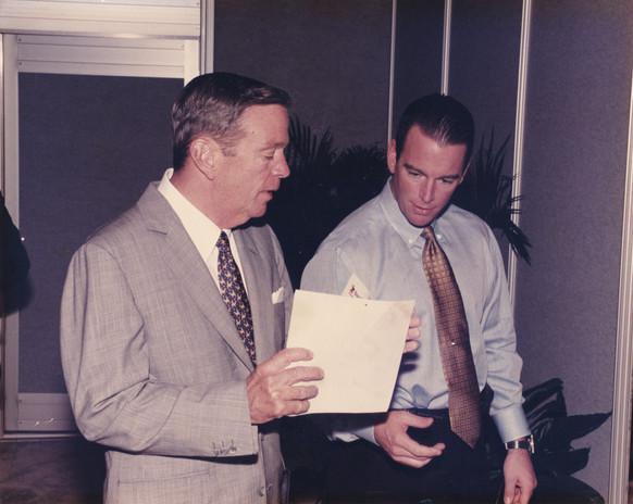 August Busch III (left) with August Busch IV (right)