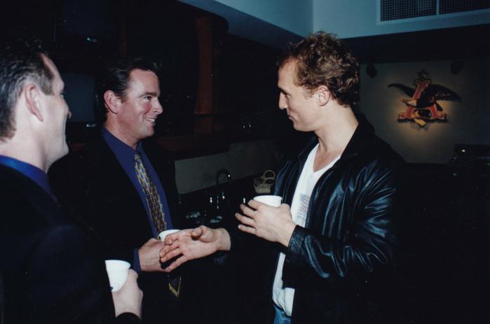 August Busch IV with actor Matthew McConaughey