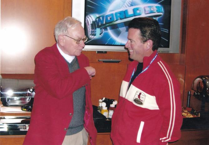 August Busch IV with Berkshire Hathaway CEO Warren Buffett