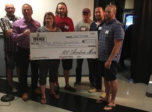 Local Philanthropists, 100 Airdrie Men, Give to Health