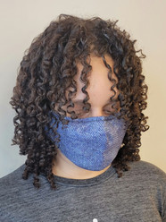 Haircut, Treatment & curly style