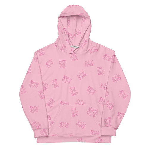 BoxHead All Over Premium Unisex Hoodie / Pink