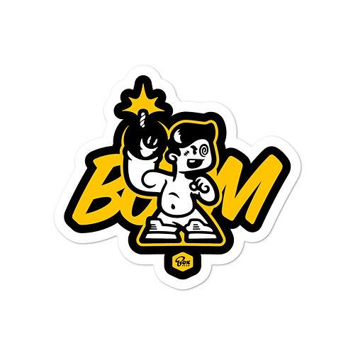 BoxHead Boom Black Stickers