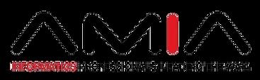 American Medical Informatics Association AMIA logo black