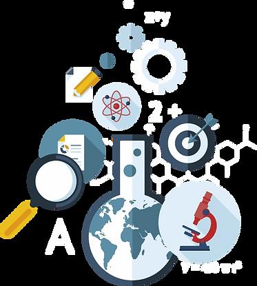 Illustration of different industries like science, medicine, engineering