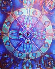 Meditarranean Blue and Copper Mandala.jp
