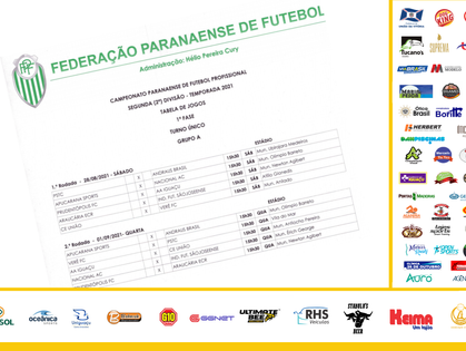 FPF divulga tabela da segundona, com Iguaçu estreando fora de casa