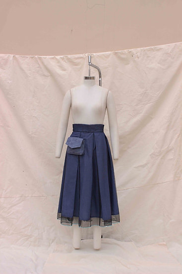 Blue Corset Check Skirt