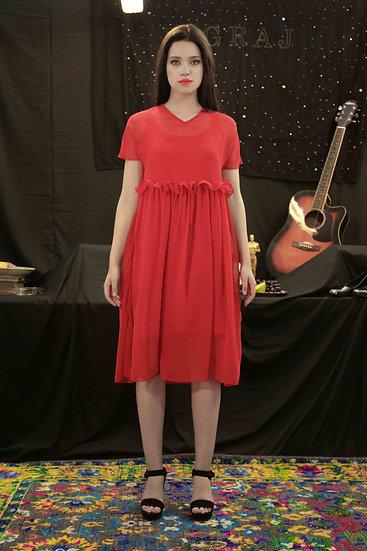 Red Little Georgette dress