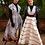 "Thumbnail: Pin strip hand embroidered ""Peace Silk"" Long Dress"
