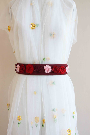 3D RED UPCYCLED FLOWERBELT