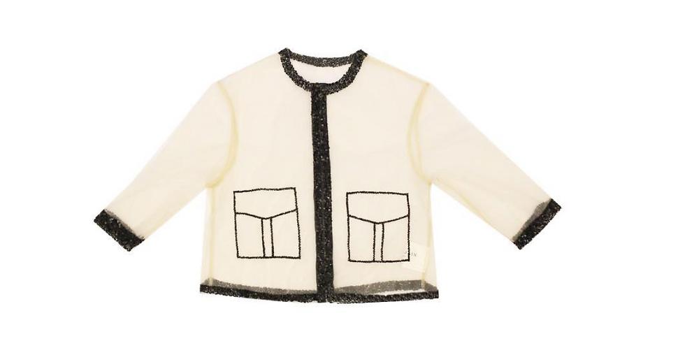 'Hand Drawn' Sheer Shirt