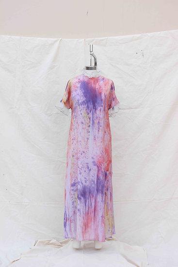 Purple Watercolor Shift dress