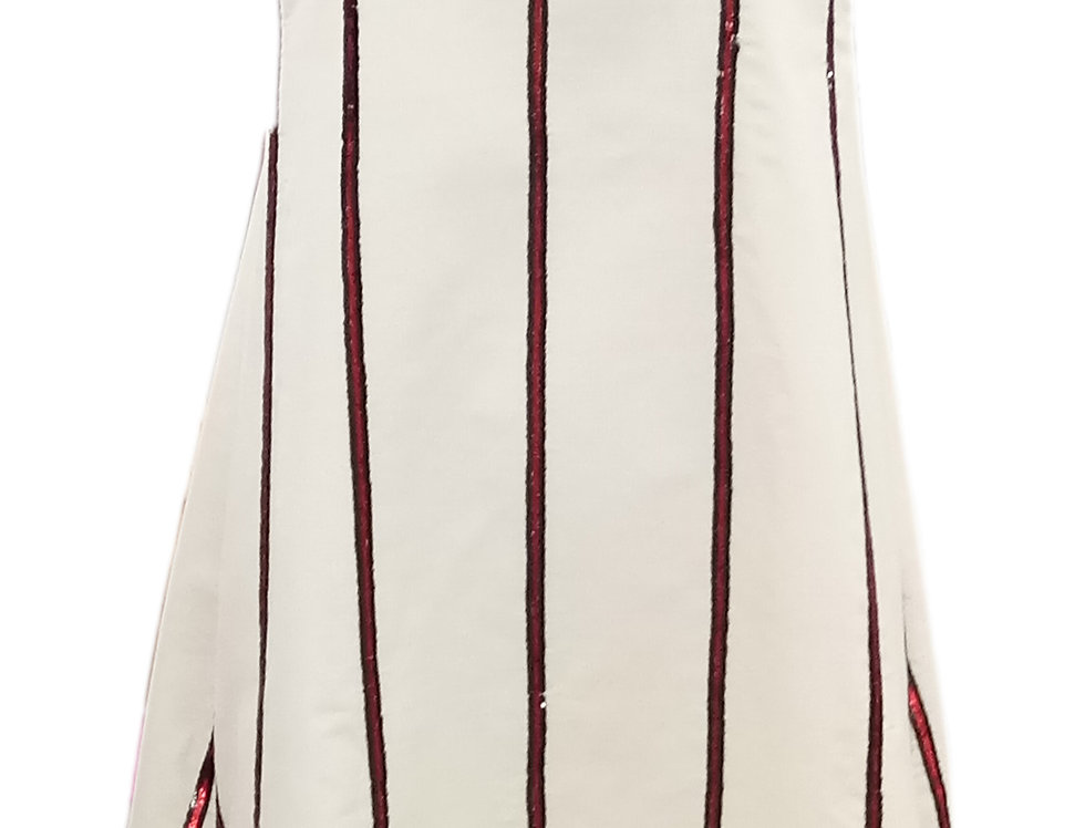 Ivory Peace Silk Skater dress