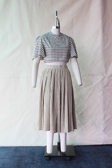 Pin Stitched Khadi Skirt