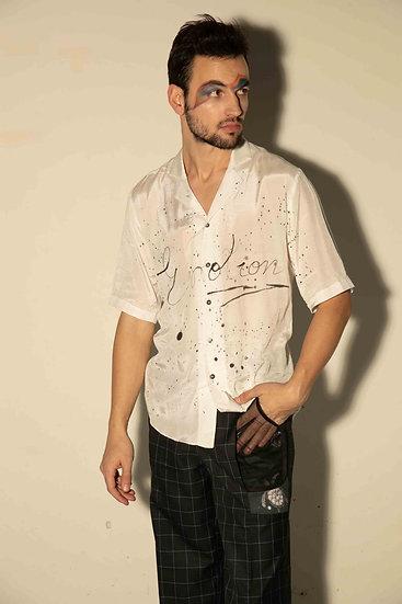 Hand Painted Emotion Viscose Shirt