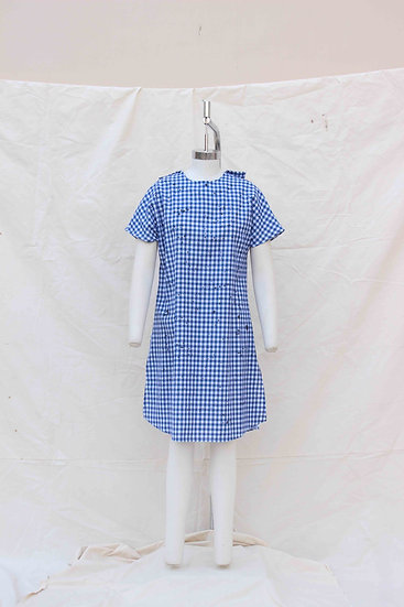 Blue Check Shift Dress