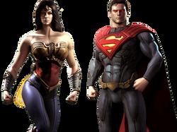 super homem e mulher maravilha