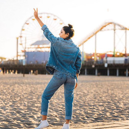 OH HEYYY FRIDAY, I've missed you! 🌞 🌞 (wearing all denim baby _topshop _levis _vansgirls ) #alwayswavy #summervibes🌞 #socalbaby #topshopdeni