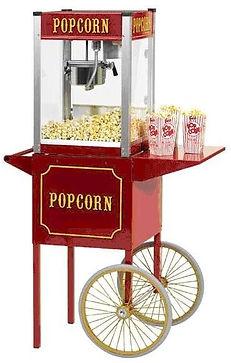 popcorn corn machine with cart
