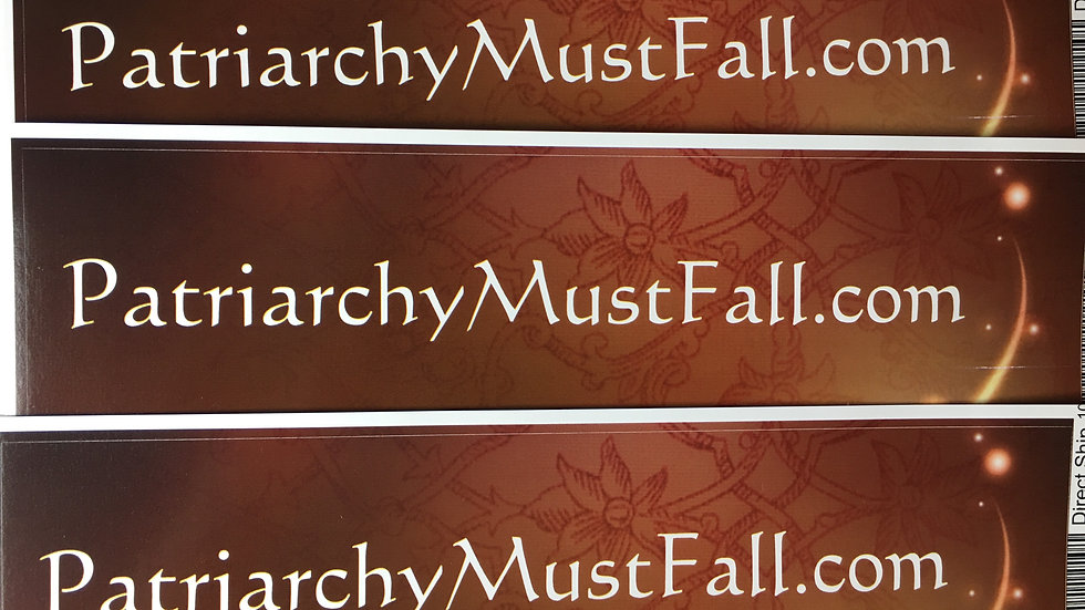 Patriarchy Bumper Sticker star