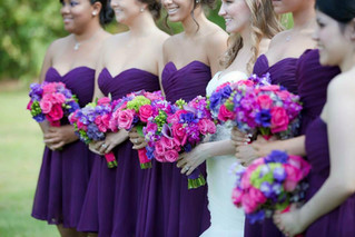 jeweled tone bridal bouquet purple weddi