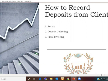 How to set-up and record Retainers or Deposits from Clients
