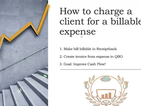 Improve Cash Flow: How to charge a client for Billable Expenses in QBO