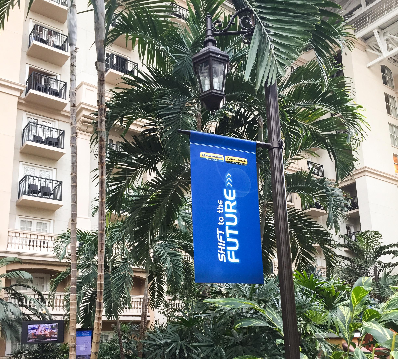 Atrium Post Banner