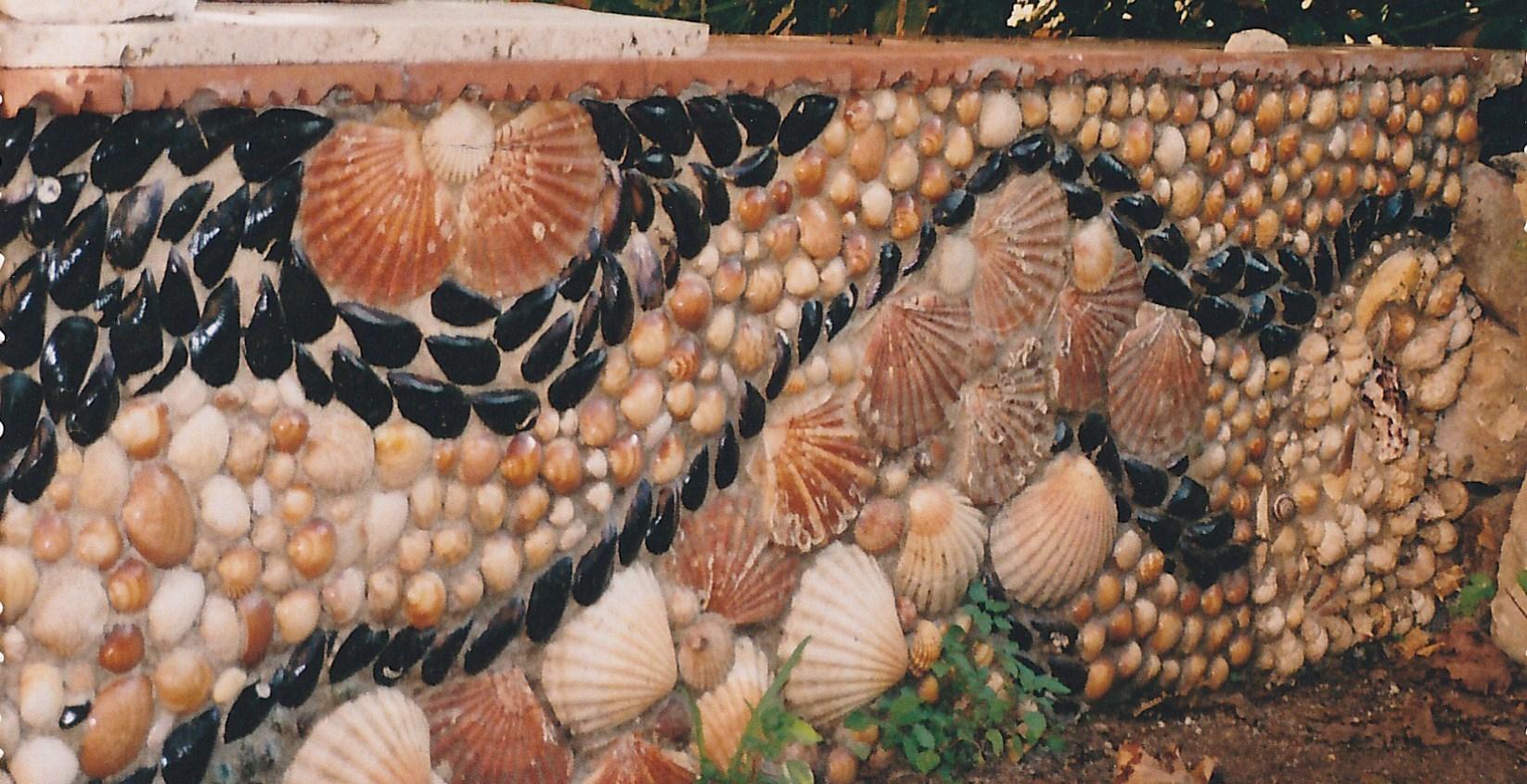 mosaïque2 d'extérieur en coquillage