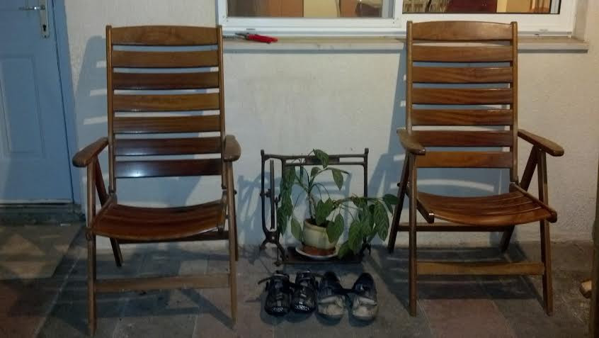 shoes and chairs