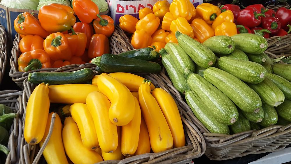 ירקות צבעוניים