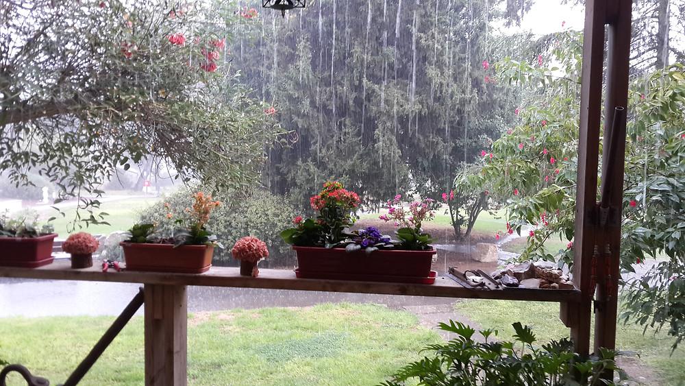 מרפסת בגשם
