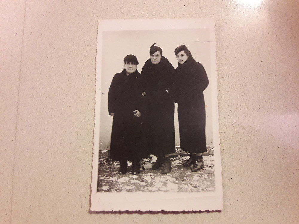 נשים מהמשפחה בשלג