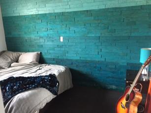 Stick Bricks Painted Bedroom