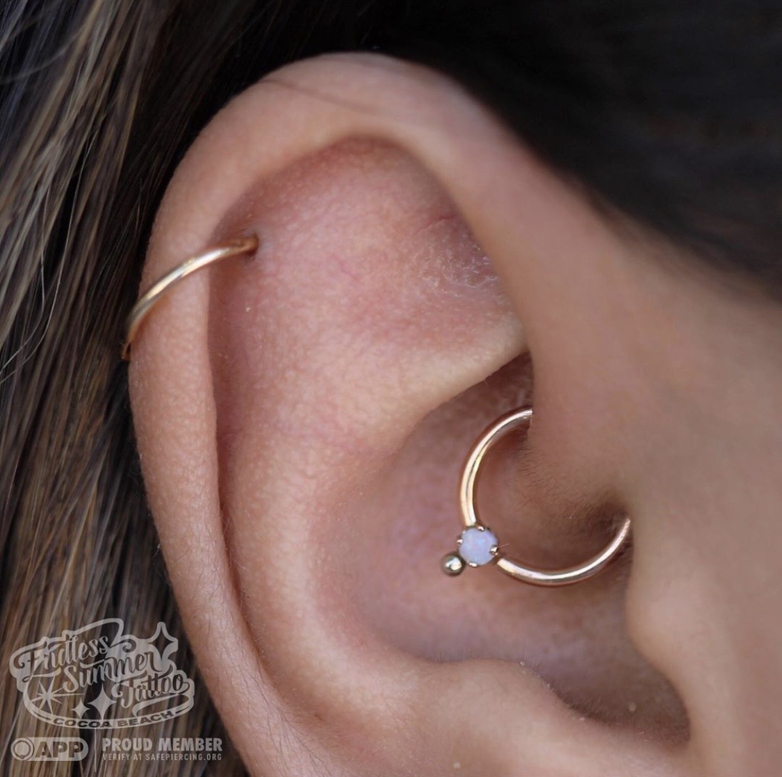With and Helix Piercing