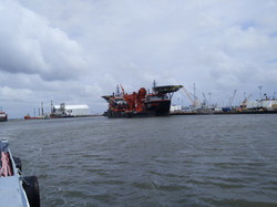 Boat ride out of Louisiana Port