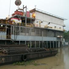 Swamp Barge Working Niger Delta
