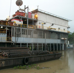 Swamp Barge Working Niger Delta