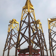 Moving a 1000 ton offshore windfarm jacket